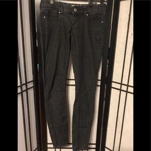 Express black stretchy jeans